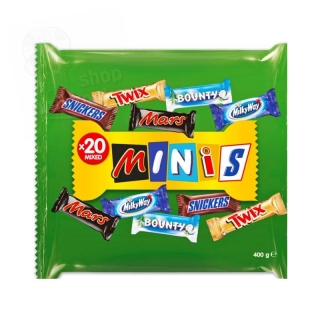 MINIS-Snickers,Mars,Twix, Bounty,Milky way 400g